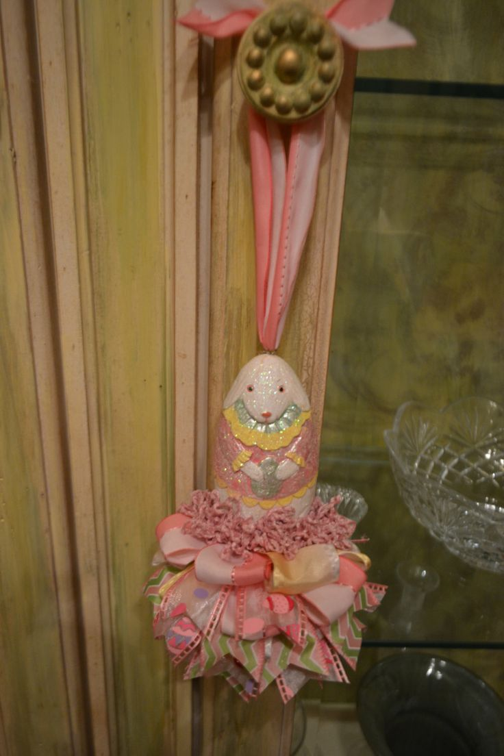 Girl+Bunny+With+Egg+Tassel+by+kristenscreations+on+Etsy,+$28.00