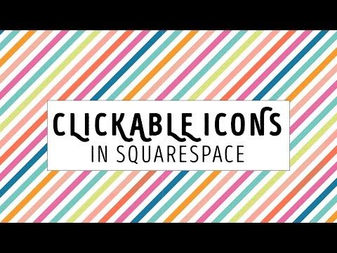 How to create a clickable icon button for your blog or website in Squarespace. Lessons for beginners who are learning to make a website