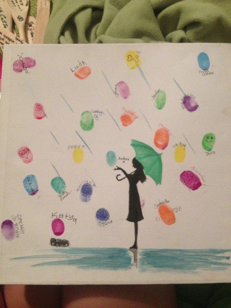 Bridal Shower Fingerprint Guest Book