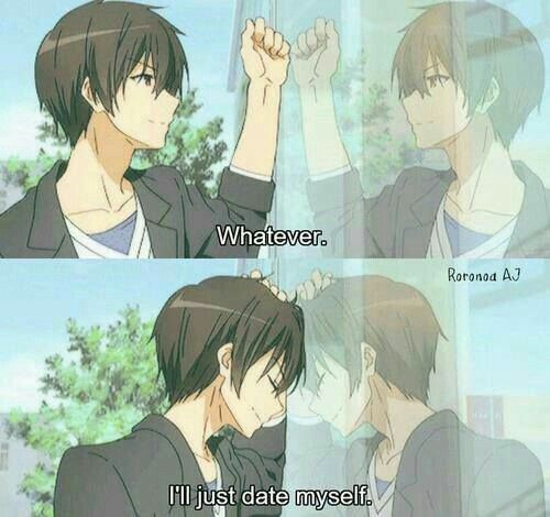 Whatever, I'll just date myself, funny, text, quote, comic, reflection, Amagi Brilliant Park, Seiya Kanie (?); Anime