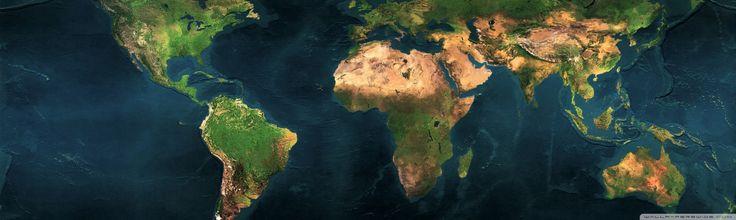 World Map Dual Monitor HD desktop wallpaper Widescreen High