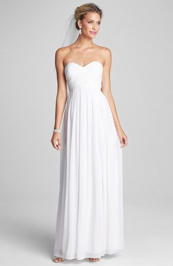 Donna Morgan 'Laura' Ruched Sweetheart Silk Chiffon Gown (Regular & Plus) available at #Nordstrom