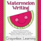 Watermelon Writing Activities features a cute watermelon shaped word book with 16 summer themed words, alphabetization writing sheet, watermelon cu...