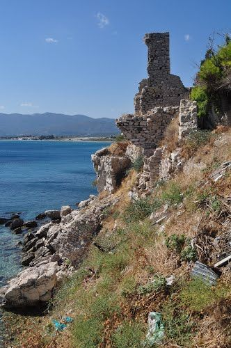 Ancient city ruins Pythagorion Samos Greece