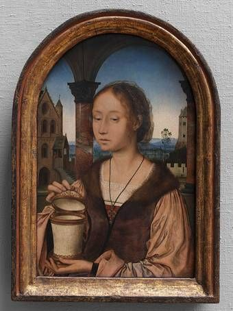 Saint Mary Magdalen, Quinten Metsijs; the saint is shown with her symbolic attribute: an ointment pot. (KMSKA)