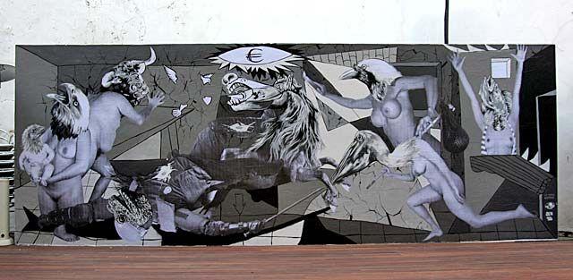 El mural de Vinz Feel Free en el Instituto Francés de Valencia | E.M. | ÁLBUM