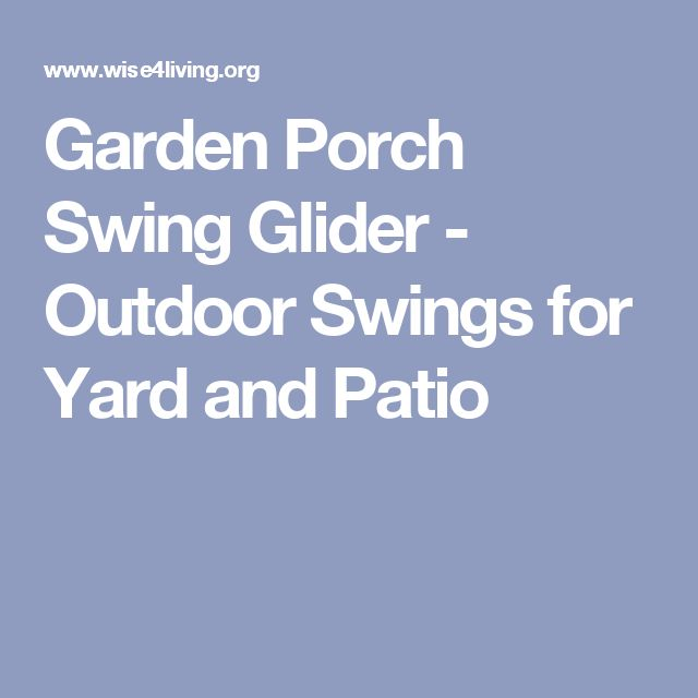 Garden Porch Swing Glider - Outdoor Swings for Yard and Patio