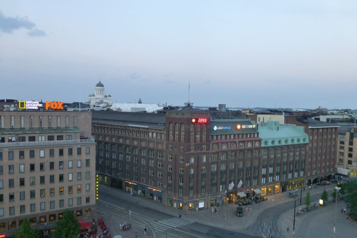 5 June 2013  Dinner view - celebrating our engagement up in the sky in the middle of Helsinki - dinnerinthesky