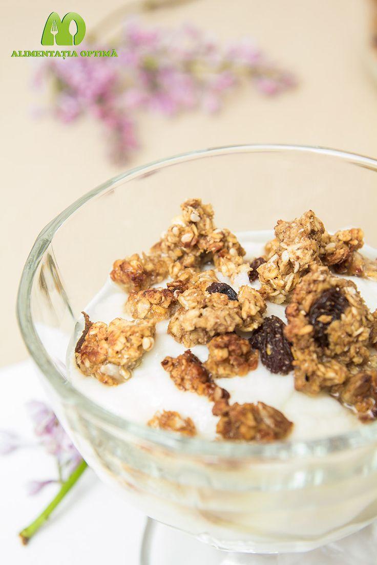 Musli crunchy (granola) cu fulgi de ovăz » Alimentația Optimă