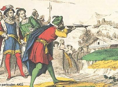 1307 – William Tell shoots an apple off his son's head | Back in the Day: William Tell's apple-shot | euronews, world news