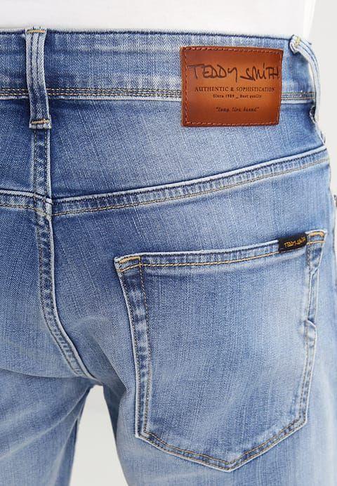 Teddy Smith SCOTT - Szorty jeansowe - bleached denim - Zalando.pl