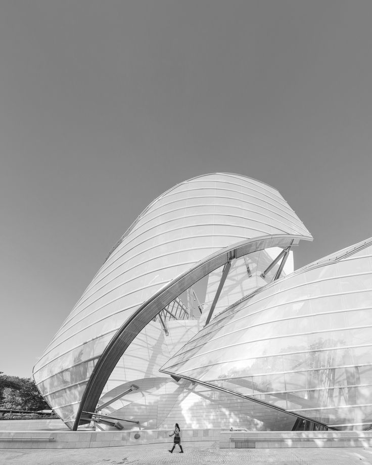 The Louis Vuitton Foundation in Paris, designed by the architect Frank Gehry