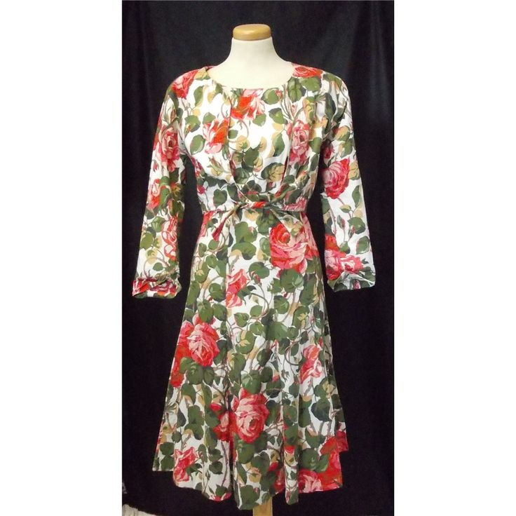 This looks like fashion bought today's floral dresses. Vintage Droopy & Browns by Angela Holmes size 10 multi-coloured floral dress and jacket | Oxfam GB | Oxfam's Online Shop