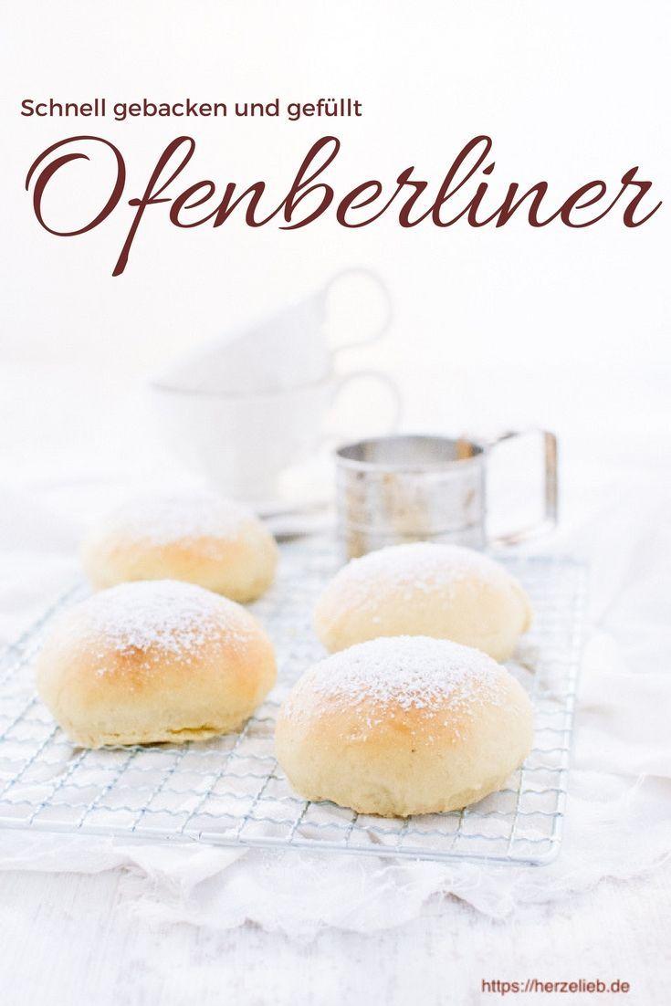 Rezept Für Ofenberliner Rezept Pinterest Berliner Backen
