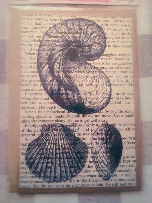 Shells Book Print Gift Card