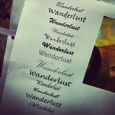 Wanderlust | Tattoo Ideas | Pinterest | Fonts, Wanderlust ...
