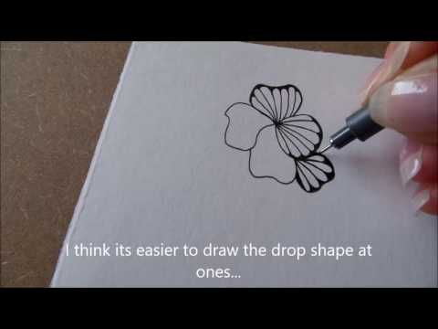 How to draw tanglepattern Ginili