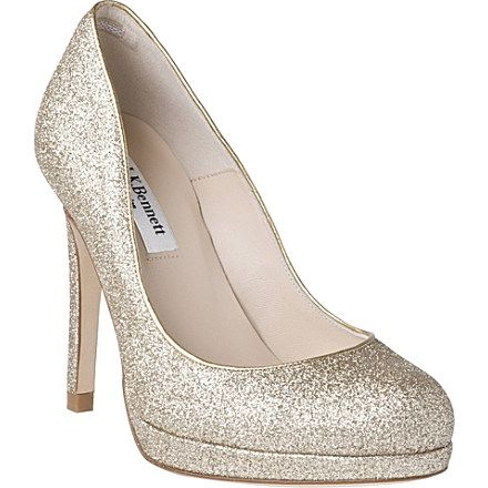 Sledge glitter embellished wedding shoes by LK Bennett