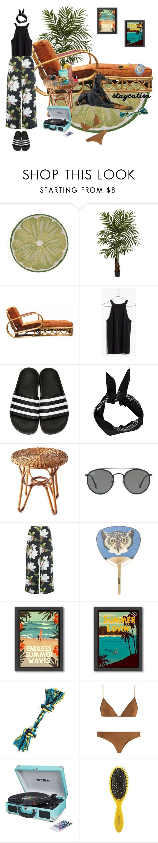 """Personal Paradise"" by rachael-aislynn ❤ liked on Polyvore featuring Nearly Natural, Madewell, adidas Originals, Boohoo, Selamat, Ray-Ban, Warehouse, Gucci, Americanflat and Fujifilm"