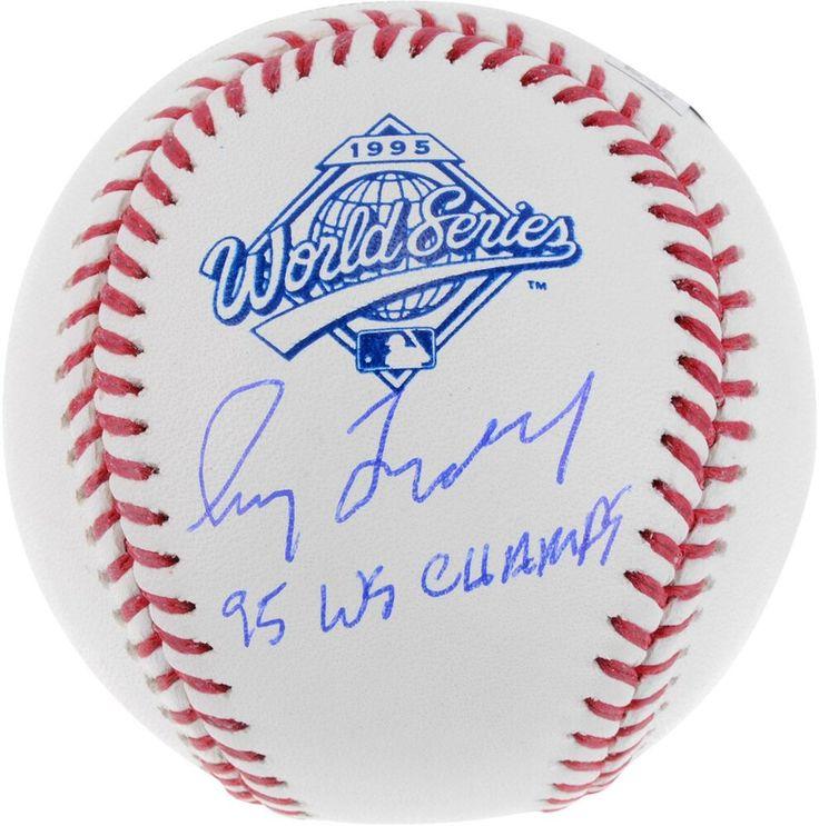 Greg maddux braves signed 1995 world series logo baseball