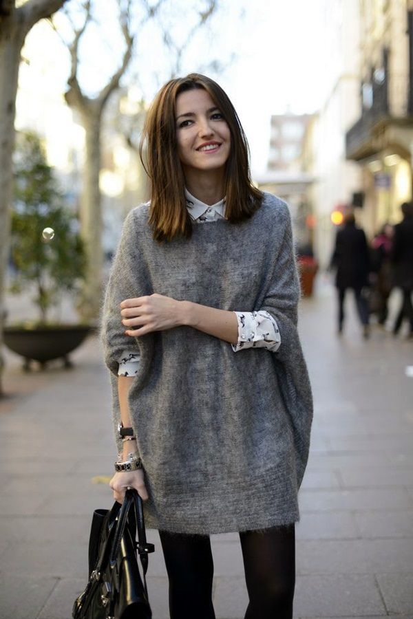 Best 25+ Oversized sweater outfit ideas on Pinterest | Oversized sweaters Winter clothes and ...