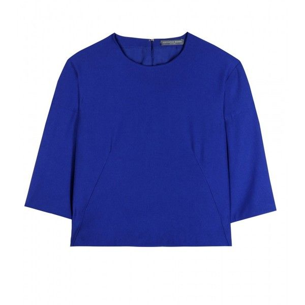 Alexander McQueen Cropped Crepe Top found on Polyvore
