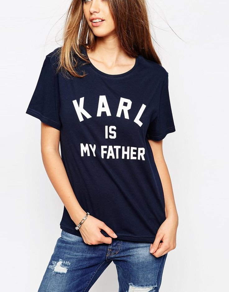 Image 3 ofEleven Paris T-Shirt in Karl Is My Father Print