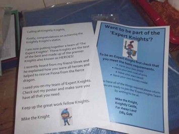 Letter from Mike the Knight