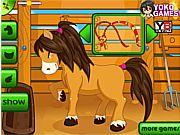 Un joc care te va incanta cu siguranta.Esti antrenoarea poneiului care il pregateste pentru concursul international de ponei care se tine odata pe an.Ai grija ca poneiul sa fie in forma maxima si astfel vei putea castiga concursul cu usurinta.Se joaca cu mouse-ul.