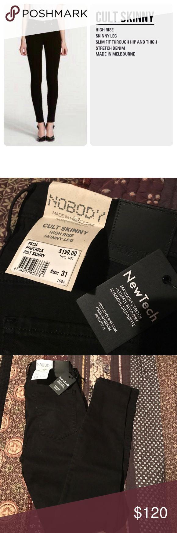 Nobody denim Nobody denim cult skinny high rise jeans. Power black size 31. Nobody  Jeans Skinny