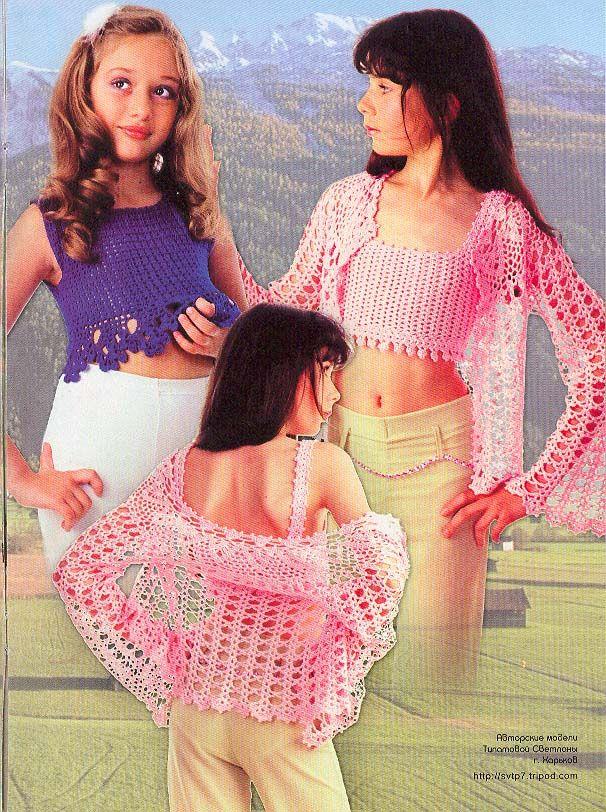24 besten Crochet Girls Cloths Bilder auf Pinterest | Kinder häkeln ...