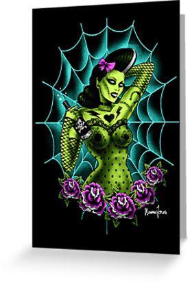 Rockabilly Zombie Girl Tattoo Art by ScreamingDemons