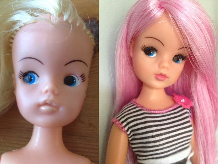 Rerooted and repainted Sindy