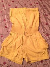 Juniors Size Small GINA'S Yellow Romper Outfit