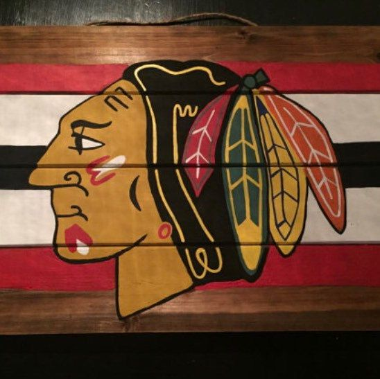 Quest for the cup starts tonight! Shop the Blackhawks Pallet Sign in the shop today!