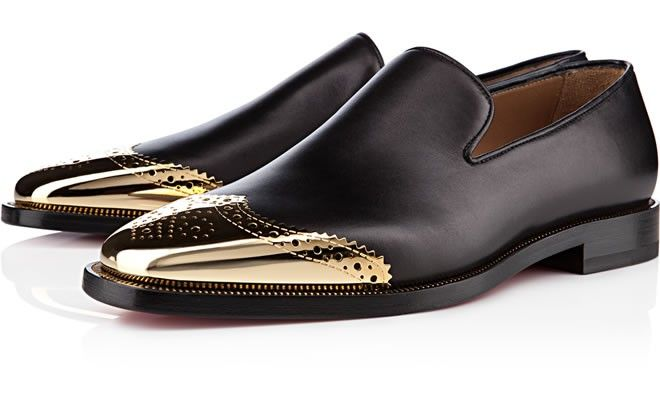 mens black and gold dress shoes