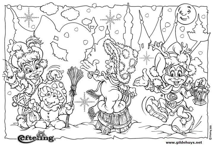Kleurplaten Winter Efteling.Efteling Kleurplaat Jokie Nederland Kleurplaat Jokie Efteling Kids