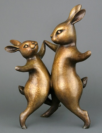 Georgia Gerber - Country Dance - Imagine these bunnies dancing in the garden among the flowers.