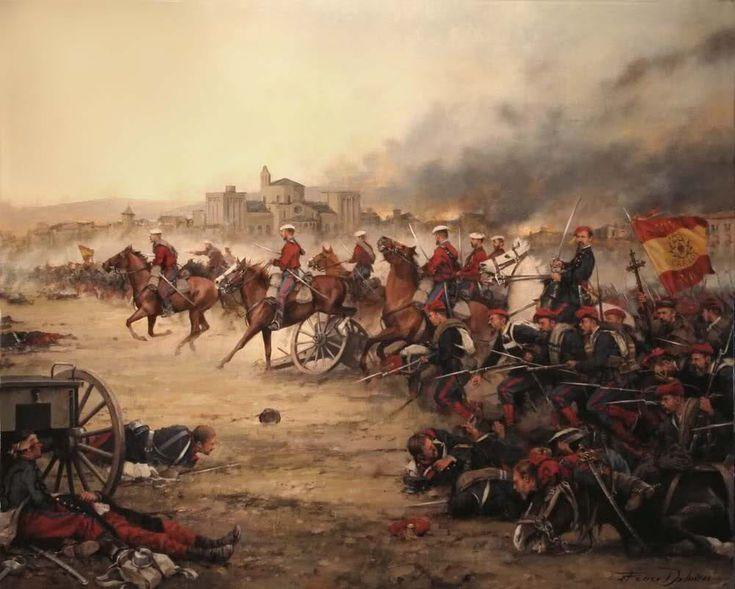 La Batalla de la Seu d' Urgell, obra de Augusto Ferrer-Dalmau