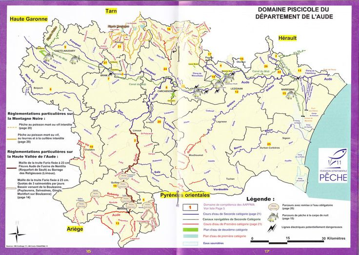 In 2017 by decree Prefectoral a specific regulation on the streams of Montagne Noire is set up.  In the first category creeks registered in the heritage management mode, on the above-mentioned sections on the AAPPMA Saissac Montagne Noire, for the other streams, see the 2017 fishing guide: FISHING IN THE VIRGIN DEATH, LURE AND A LA CUILLERE, except the whipped fly is forbidden.