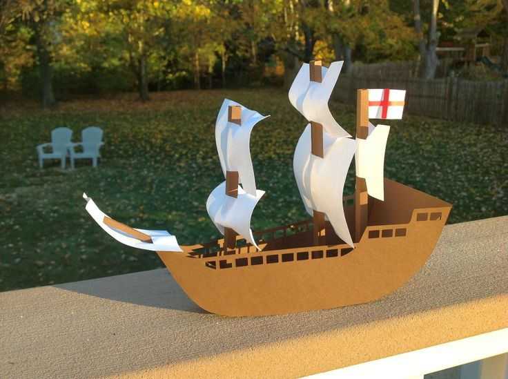 Using the same bodyfrom my Columbus ship, I recreated a model of the Mayflower. The Mayflower is flying the St. George's Cross. St.Georg...