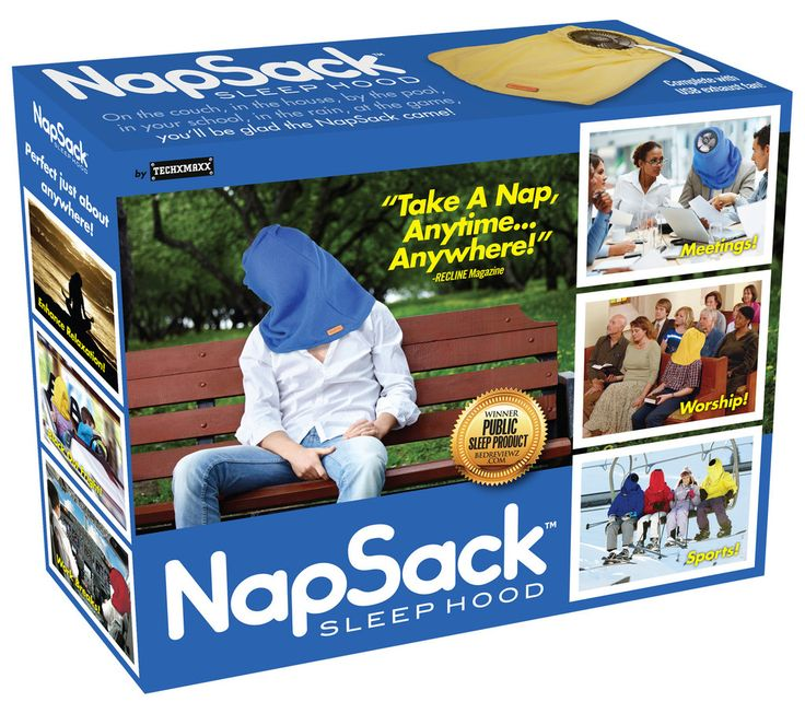 "Let the napper in your life see why Chillaxation Weekly proclaims the Nap Sack to be the best ""Public Sleep Product."" On the couch, in the house, by the pool, i"
