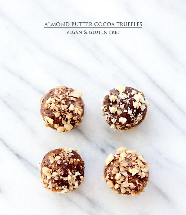 ALMOND COCOA TRUFFLES - via A House in the Hills | Gluten Free