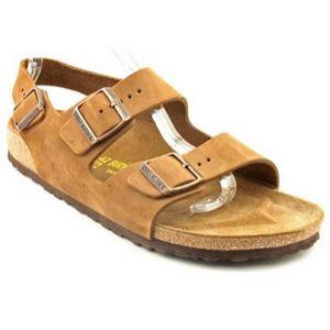 Birkenstock Milano Slingback Sandal-Unisex. Contoured foot bed and cork mid sole.