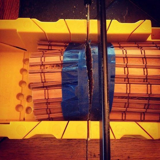 Come tagliare le tende di bambù