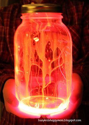 Glow Stick Lantern - indoor fun!