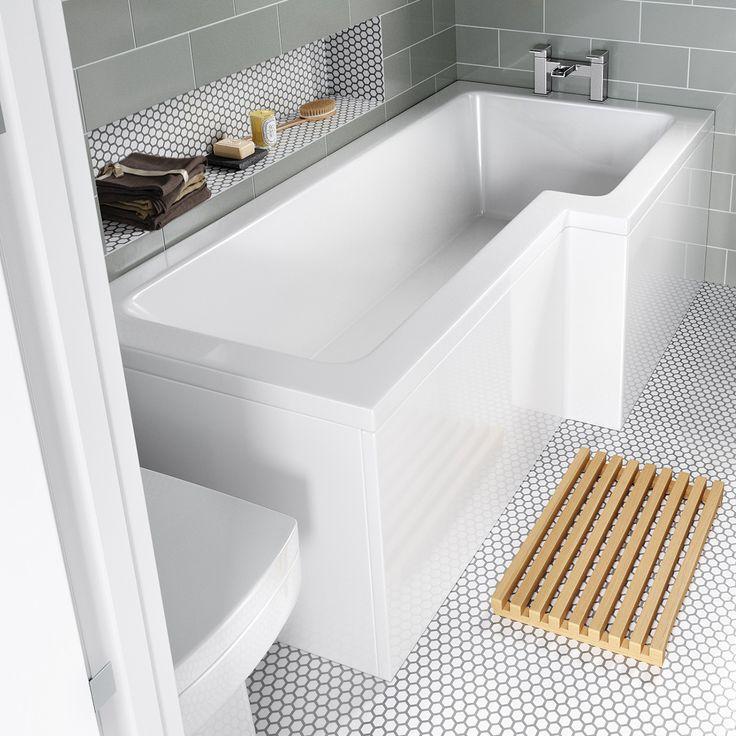 1700x850mm Right Hand L-Shaped Bath | Soak.com £159.99