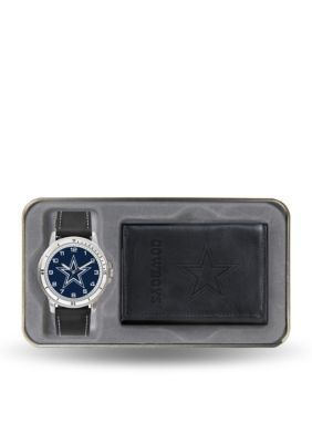 Rico Industries  Dallas Cowboys Black Watch And Wallet Gift Set-Online