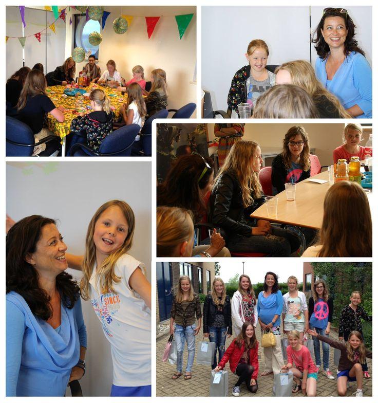 VIP-dag voor fans van Lizzy, serie door Suzanne Buis, bij Uitgeverij Kluitman, Alkmaar. Suzanne is hier zwanger van haar tweede dochter Femke Judy