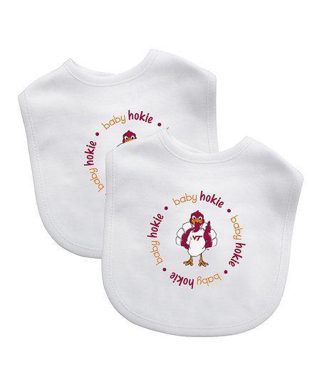 Baby Fanatic Virginia Tech Hokies Bib - Set of Two | zulily